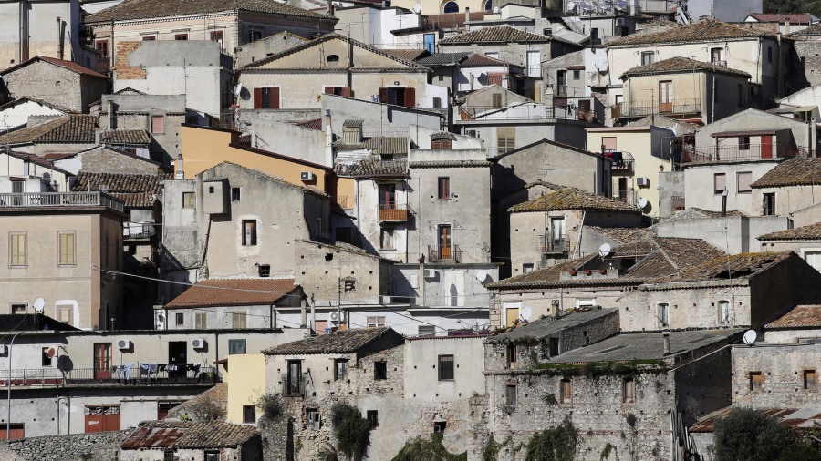 The town of Riace is seen in the southern Italian region of Calabria, Nov. 22, 2013.