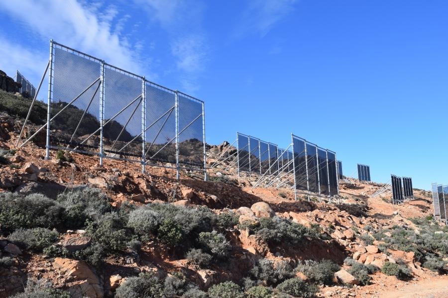"""Cloudfisher"" nets erected on Mount Boutmezguida"