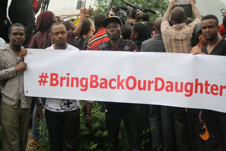 At a demonstration in Abuja, Nigerians call on their government to do more to bring back the kidnapped schoolgirls
