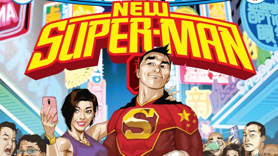 The cover image of the New Super-Man comic by DC Comics and writer Gene Luen Yang.
