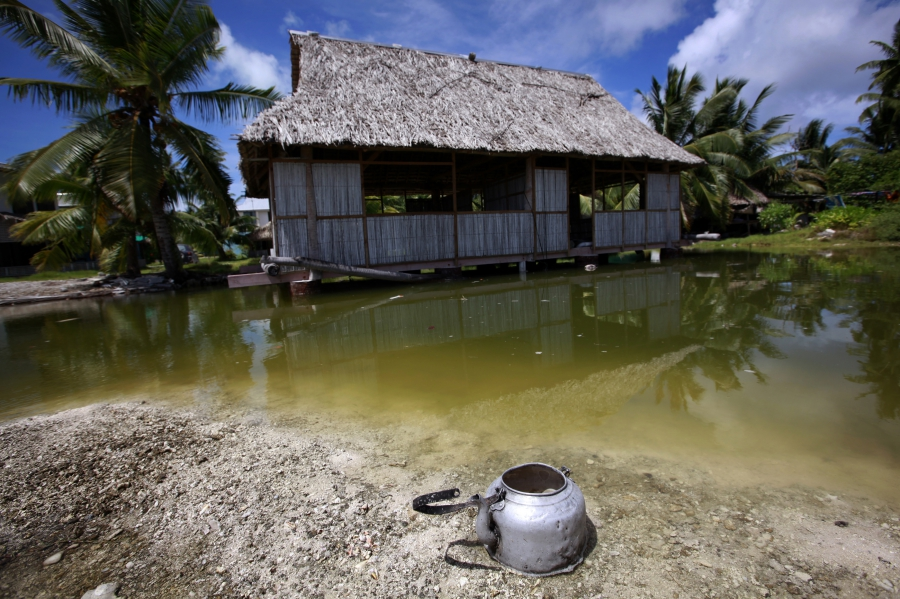 Seawater flooding in Kiribati