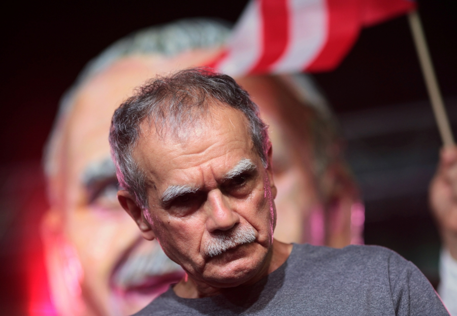 Puerto Rican Oscar Lopez Rivera attends a rally in his honour after being released from house arrest in San Juan, Puerto Rico May 17, 2017.