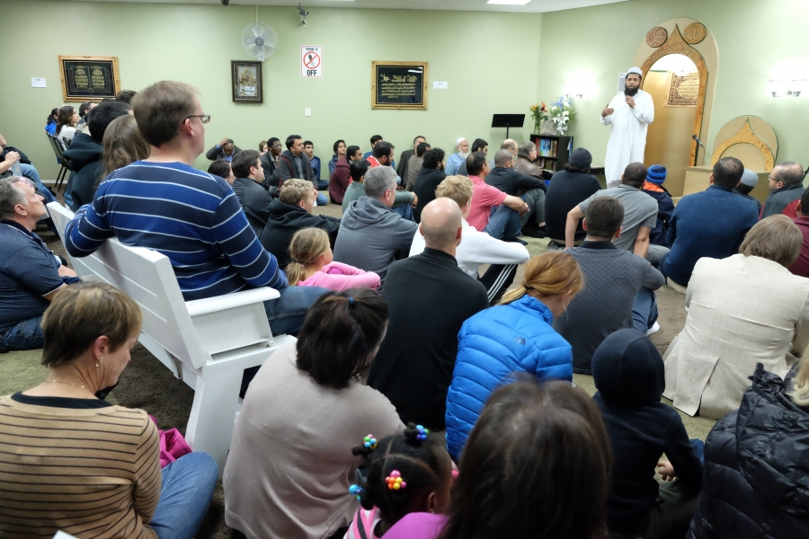 """A Friday night """"Meet the Muslims"""" session at the Utah Islamic Center in Sandy, Utah. Members of the center started them after the election of Donald Trump."""
