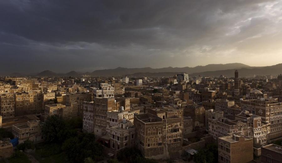 A shot of an ancient neighborhood in Sanaa, the capital of Yemen, taken long before Saudi Arabia's invasion.