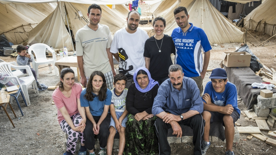 Members of the Noh family in Ritsona refugee camp in Greece in May 2016.