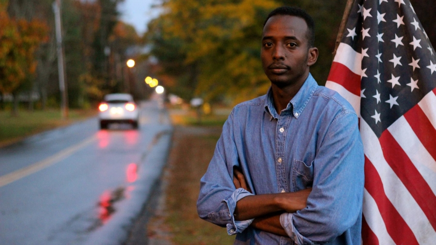 Abdi Nor Iftin in Maine, where he settled after finally gaining a green card through the US' Diversity Visa Program.