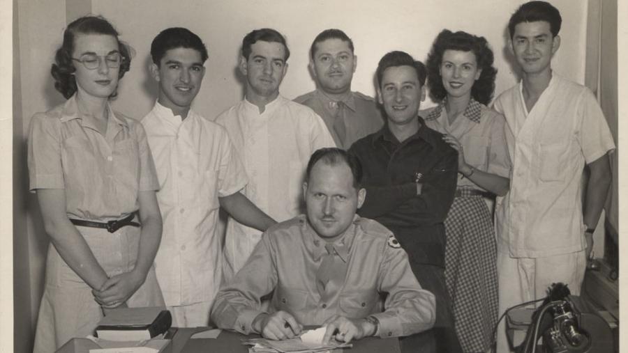 Anthony Acevedo and friends, approximately 1935-1945.