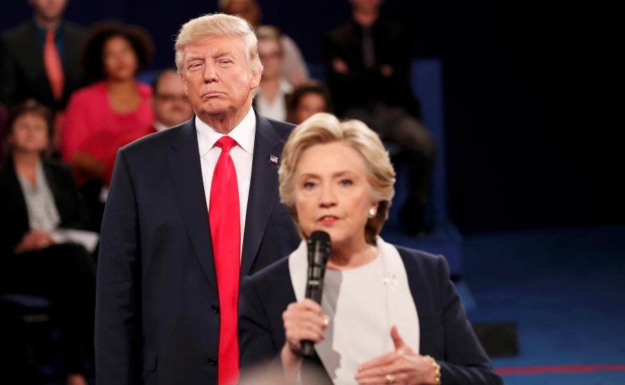 Republican US presidential nominee Donald Trump and Democratic nominee Hillary Clinton
