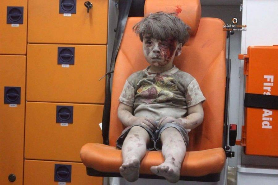 Syrian boy Aleppo