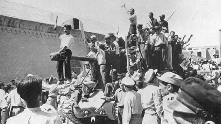 Tanks in the streets of Tehran, 1953.
