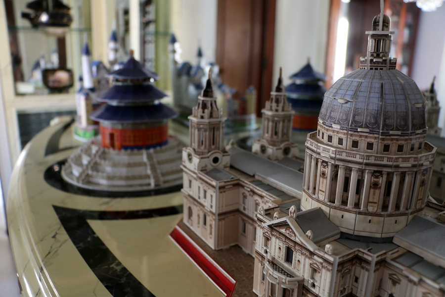Karen's model of an Italian basilica. She wants to be a famous engineer or a scientist, which is why she loves building 3D puzzles.