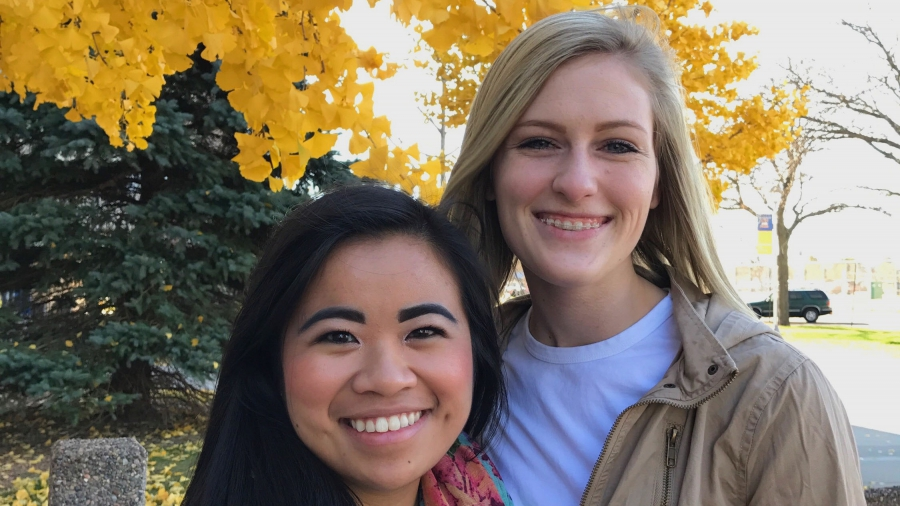 Thu MacKenzie and Madison Bau are freshmen at the University of Wisconsin, Eau Claire.