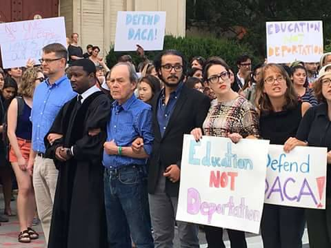 Thirty-one professors from Harvard and other Boston universities were arrested Thursday when they protested  the decision to phase out DACA, a program that protects young immigrants who came to the US as children.