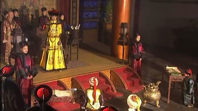 "Screen shot from ""Kangxi Dynasty,"" a Chinese television drama set during the Qing Dynasty."