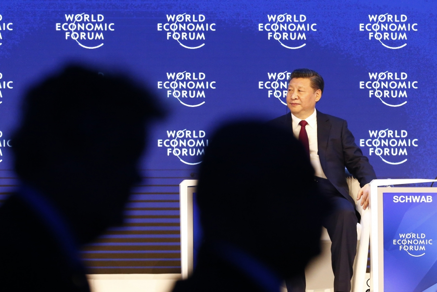 Chinese President Xi Jinping attends the World Economic Forum