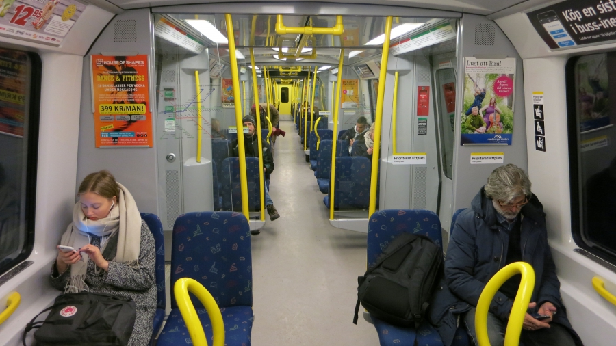 Stockholm's subways are clean, efficient, and run so frequently that passengers almost always get a seat. Even in rush hour, the crowds are manageable.