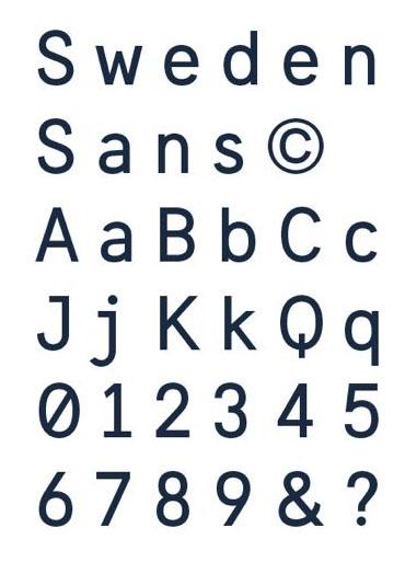 Sweden's new national font, Sweden Sans