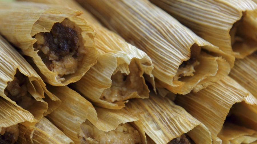 Tamales prepared for the holidays are seen at Delicious Tamales in San Antonio, Texas, December 14, 2012.