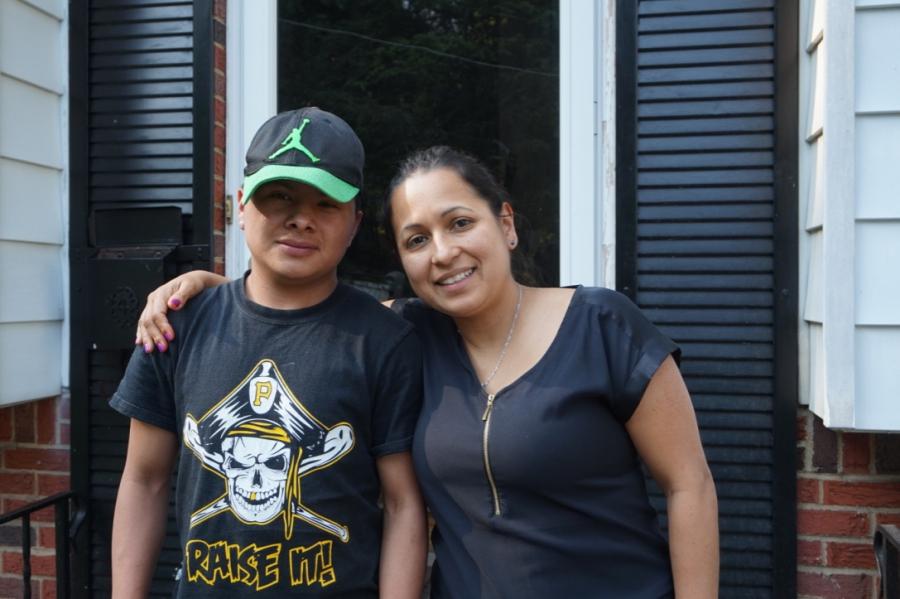 Bartolo and his foster mother Monica Ruiz