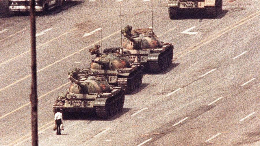 Tiananmen protest tank man