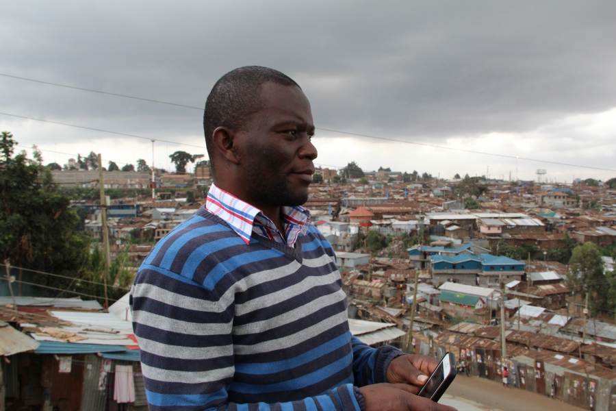 Tom Bwire worked as a community journalist in Kibera for many years before co-founding Habari Kibra.