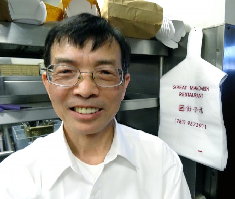 Tony Huang, co-owner of the Great Mandarin Restaurant, Woburn, MA