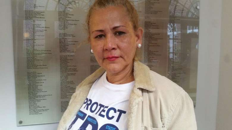 Dina Paredes of Los Angeles and her husband have had Temporary Protected Status since 2001.