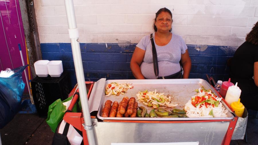 guatemalan migrant, street vendors