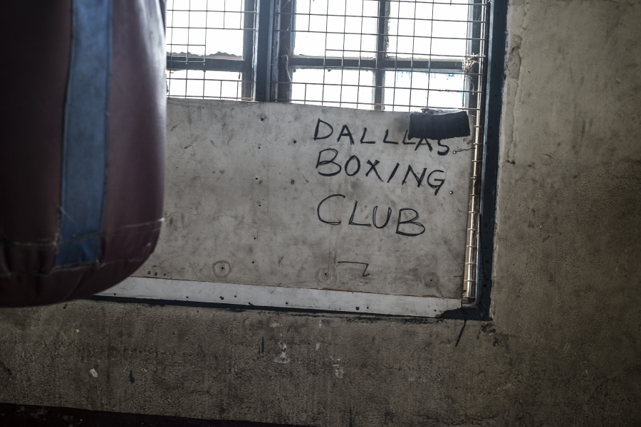 Sign at the Dallas Boxing Club