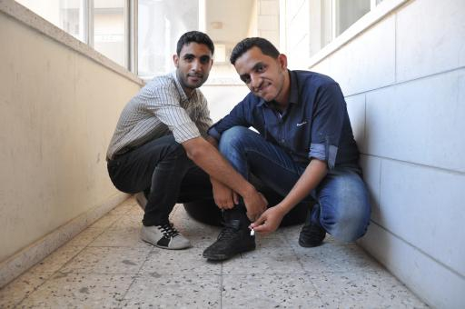 Omar Badawi and Sameer Al NuNu, 22, creators of Walk and Charge.