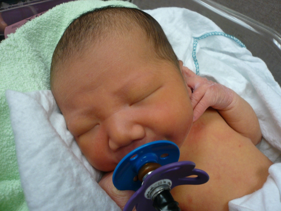 The University of British Columbia study measured pacifier-sucking intensity. (Courtesy of Janet Werker/University of British Columbia.)