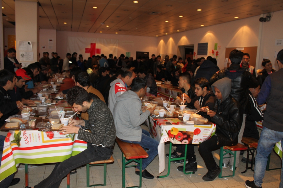 Red Cross refugee center in Brussels