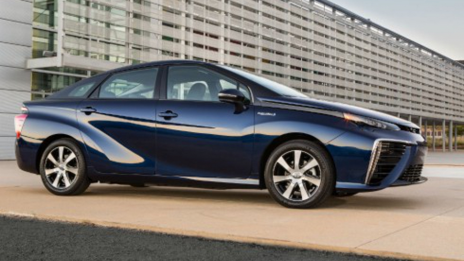 The 2016 Toyota Mirai sedan. Photo by Toyota