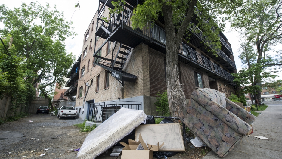 A Mattress And Sofa Reportedly Taken Out Of The Apartment Luka Magnotta Lie Just Outside An Building In Montreal On May 31 2017