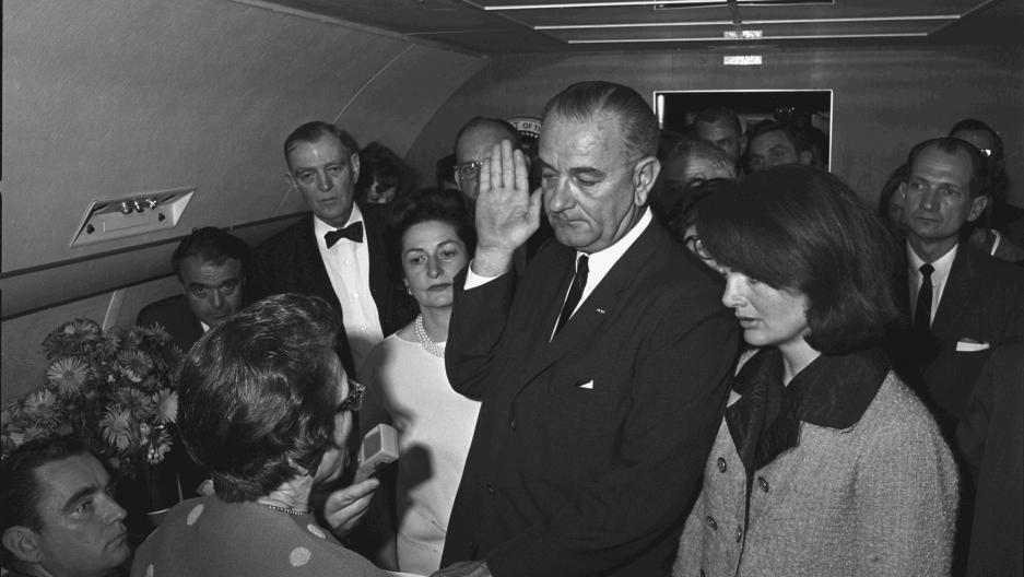 Swearing in of Lyndon B. Johnson as President