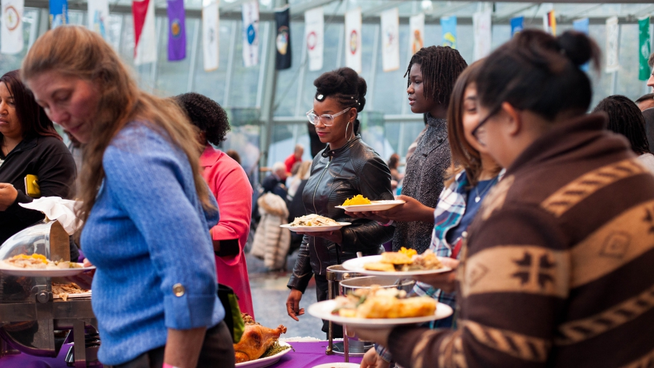 Roughly 220 guests came to the Mashantucket Pequot Museum for this year's annual Thanksgiving FEAST. It was the second time the event was both held and sold out.