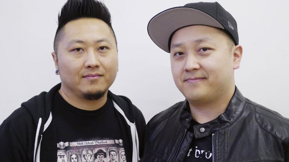 Filmmakers Abel Vang, left, and Burlee Vang