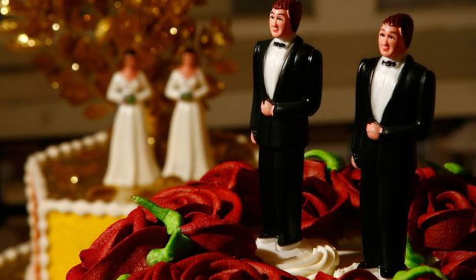Same-sex wedding cake toppers