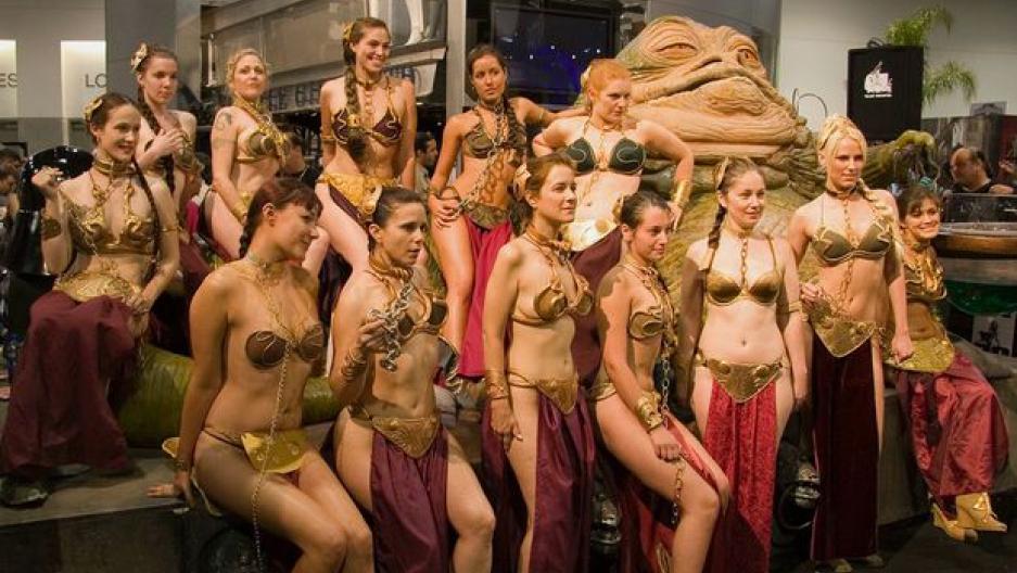 Bikini gold in jabbas leia slave, college hunk cock