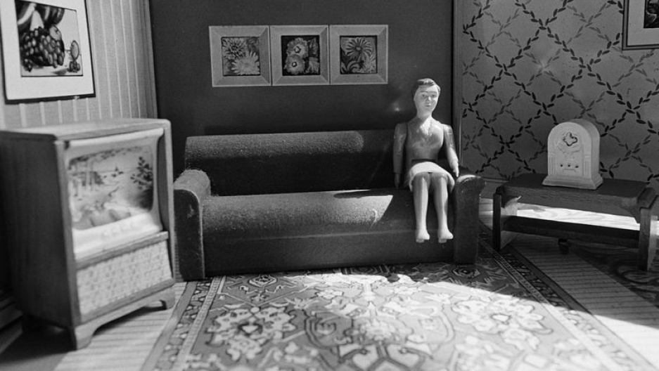"""""""Woman Listening to Radio"""" from """"Early Black and White"""" (1978)"""