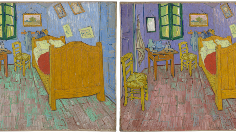 On the left The Bedroom as seen in real life. On the right  sc 1 st  Public Radio International & The walls in Van Goghu0027s iconic u0027The Bedroomu0027 were never meant to be blue