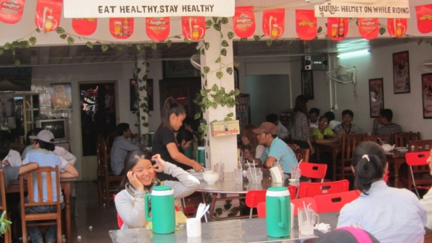 Mhoup Srae Restaurant in Phnom Penh doesn't serve brown rice.