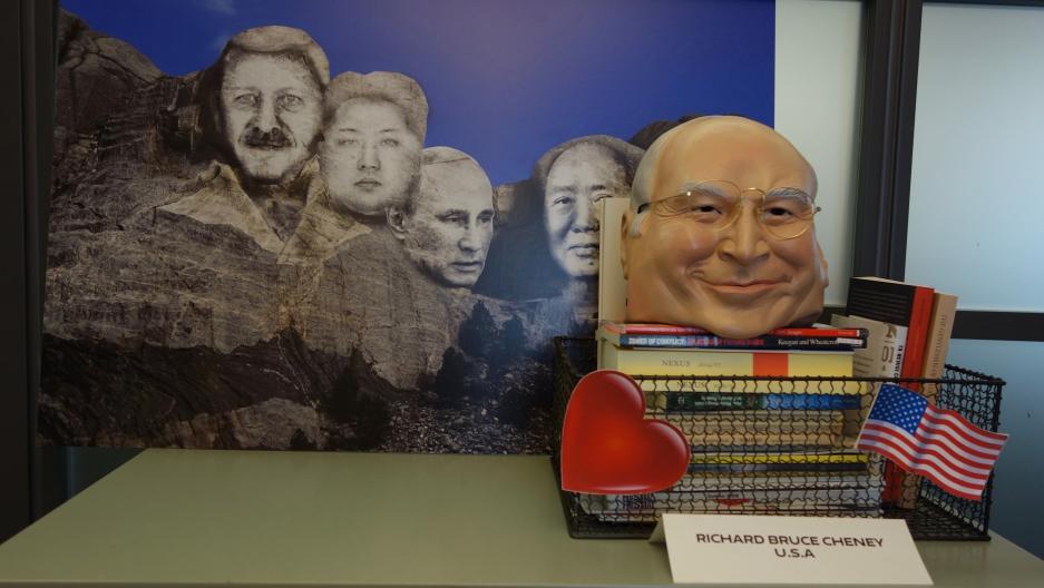 Scene from Nina Khrushcheva's New School office