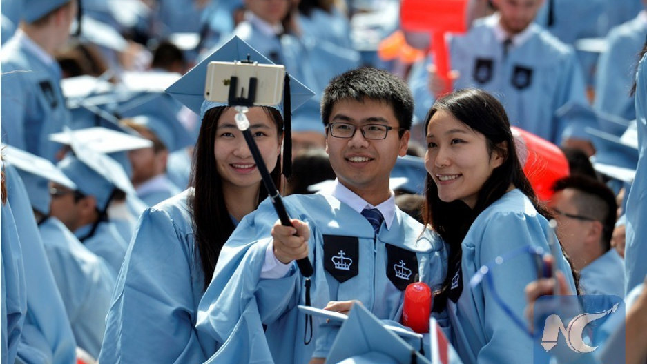 Chinese graduates at Columbia University