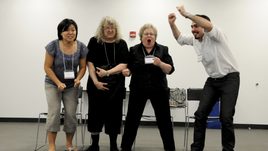 Scientists learn improv