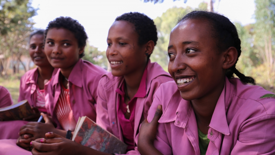 Girls Club at the Merawi Primary School in Ethiopia