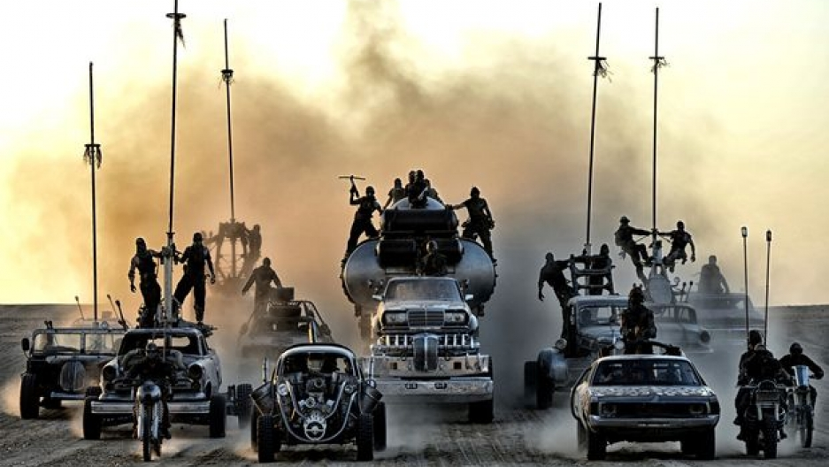 "In the post-apocalyptic world of ""Mad Max: Fury Road,"" warriors rule the desert in massive armored trucks (Jasin Boland)"