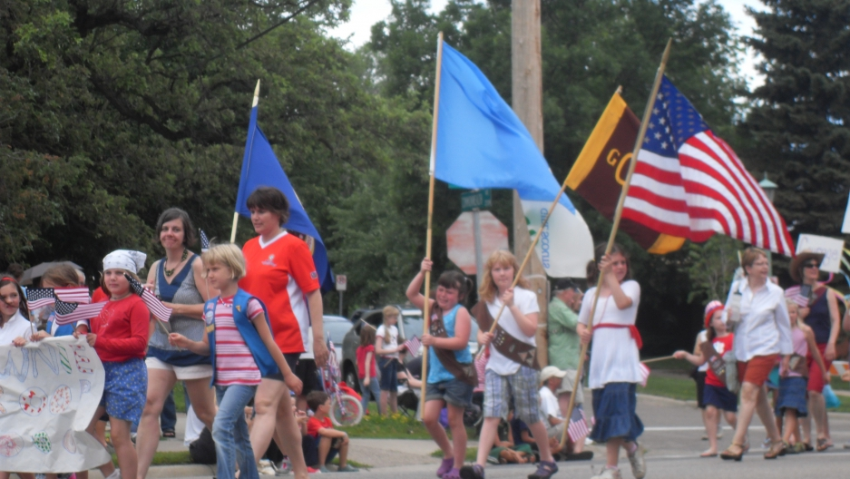 Fourth of July neighborhood parade