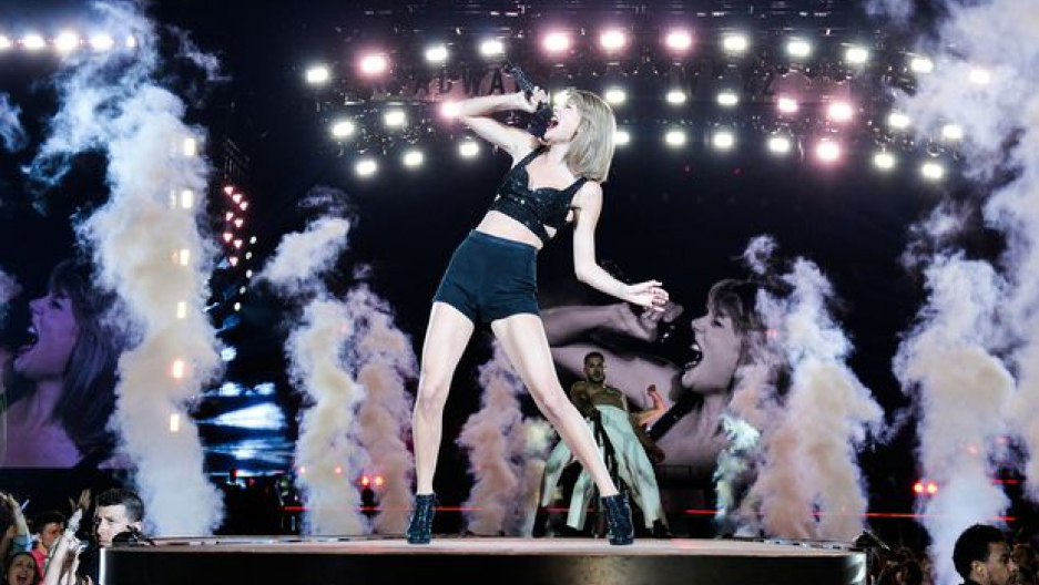 Taylor Swift in a Toronto performance of her 1989 world tour (George Pimentel/LP5/Getty Images for TAS)