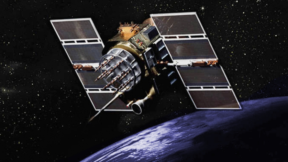 A GPS satellite. Credit: United States Government